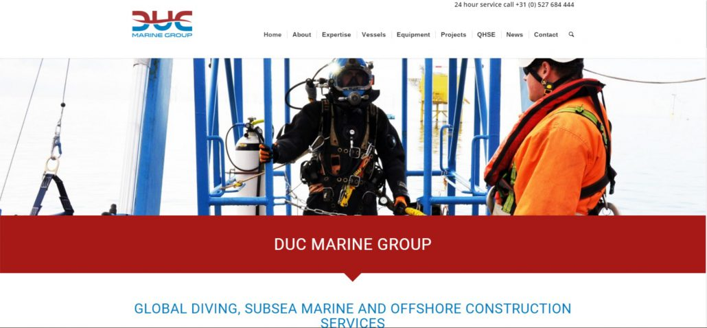 DUC Marine Group website